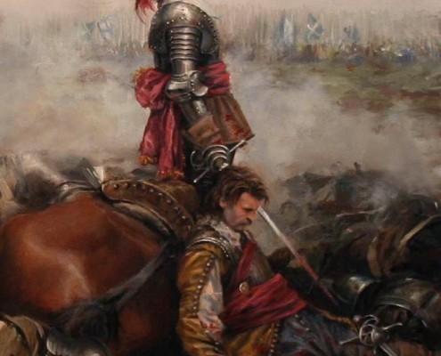Alférez de los tercios españoles 1640 - Cuadro de Agusto Ferrer-Dalmau