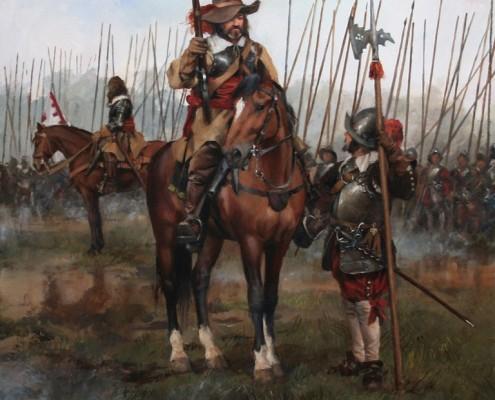 Oficial de caballería,Guerra de los Treinta Años 1618-1648