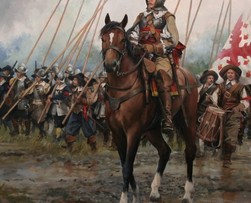 Oficial Español del siglo XVII - Cuadro de Agusto Ferrer-Dalmau